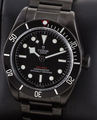Mens Rolex Tudor Heritage Black Bay 79230DK 41mm Box and Papers