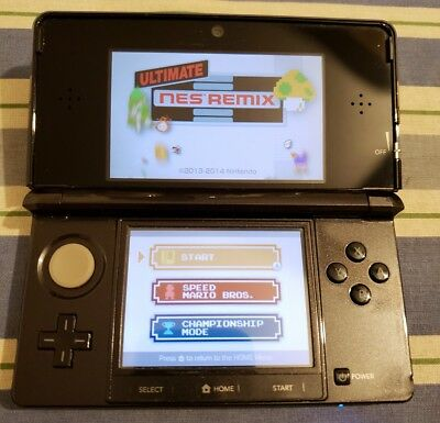 Nintendo 3DS Launch Edition Cosmo Black Handheld System Tested Working