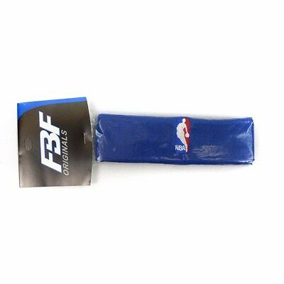 1 Official NBA Authentic On-Court Blue Headbands Mens