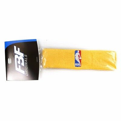 1 Official NBA Authentic On-Court Gold Headbands Mens