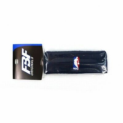 1 Official NBA Authentic On-Court Navy Blue Headbands Mens