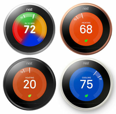 Nest Learning Thermostat 3rd Generation Works with Google Home and Amazon Alexa