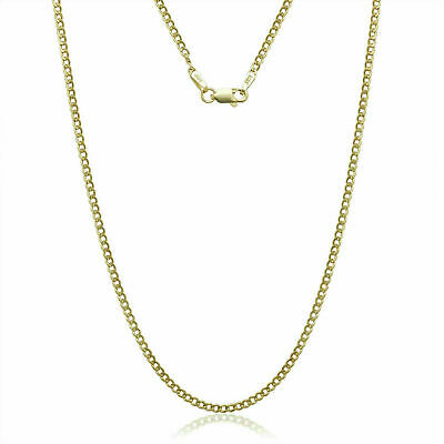 14K SOLID YELLOW GOLD CUBAN LINK 2-40 MM WOMEN MENS NECKLACE CHAIN 16-30