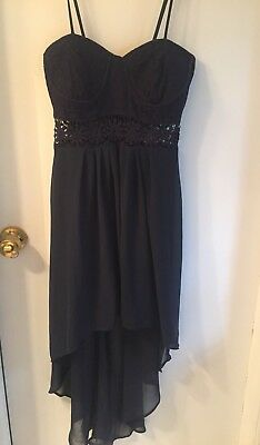 Wet Seal High Low Sweetheart Neck Strapless  Dress Size Small