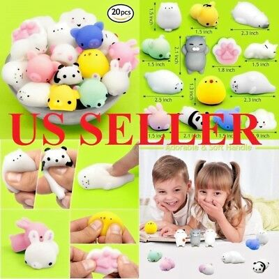 US Seller Cute Outee Mini Squishes 10pcs or 20pcs Animal Mochi Squishes Styles