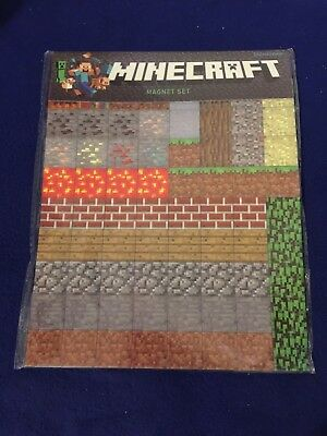 Minecraft Magnet Sheet 2 Sheets Educational Toy