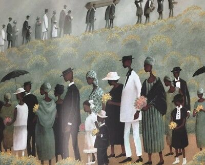AFRICAN AMERICAN ART - PRINTS-Funeral Procession 16 x 20 New Unframed
