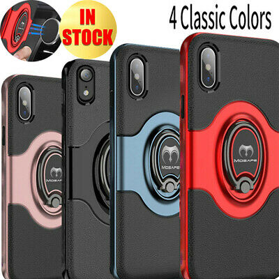 For iPhone XS Max XR Ring Shockproof Protective Rugged TPU Bumper Case Cover
