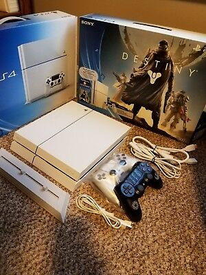 Sony PlayStation 4 ps4 glacier white bundle with extras