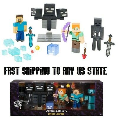 HOT New Minecraft Wither Warfare 5 Inch Action Figures Toy Multipack from game