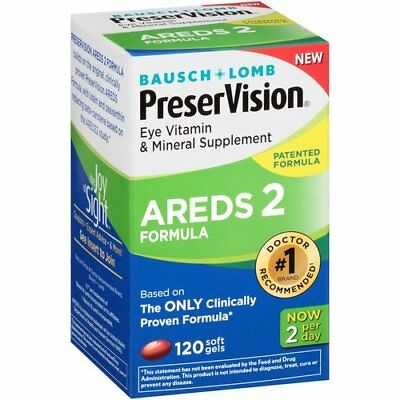 BAUSCH-LOMB PRESERVISION AREDS 2 EYE VITAMIN - MINERAL SUPPLEMENT 120 Soft Gels