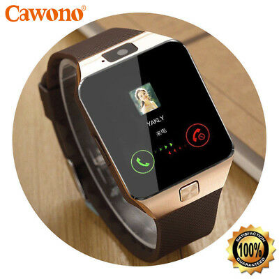 Bluetooth Smart Watch wCamera Waterproof Phone Mate for Android Phones For Man