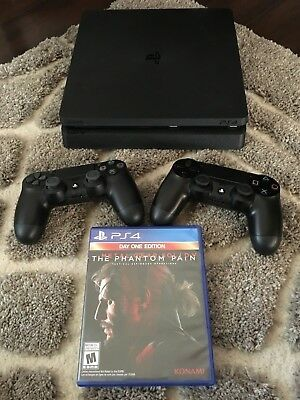 Sony PlayStation 4 Slim 1TB Jet Black Console with Extra Controller and MGS V