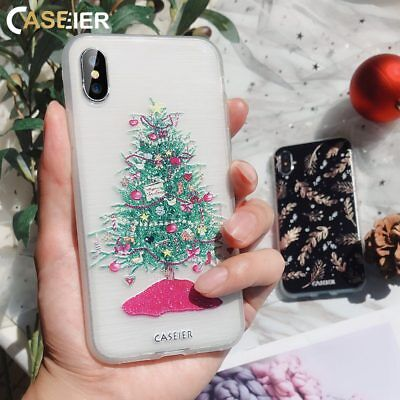 NEW YEAR CHRISTMAS ULTRA SLIM SOFT TPU GEL PHONE CASE COVER FOR IPHONE X 8 7 6 5