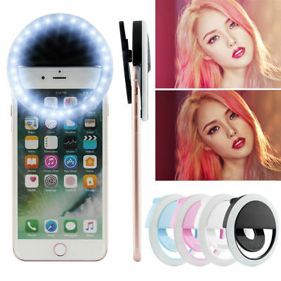 Portable Luxury Selfie LED Camera Ring Flash Fill Light For IPhone Mobile Phone