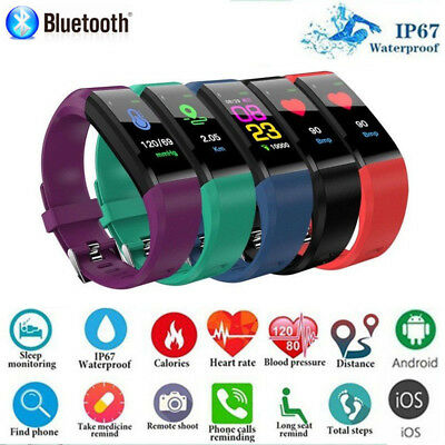 Brand New Sports Waterproof Fitness Activity Tracker Heart Rate Smart Watch Band