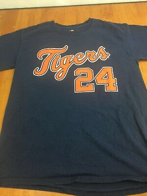 Miguel Cabrera T Shirt Navy Detroit Tigers Medium M FREE SHIPPING