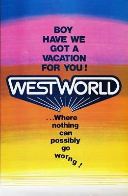 Vintage Westworld PosterClassic Movie PosterMovie PosterPoster ReprintHo
