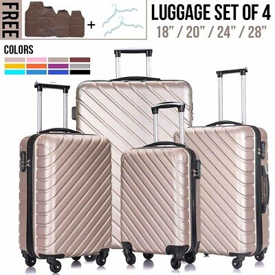 34PCS Luggage Set Travel Bag Trolley ABS Spinner Hard Shell Business Suitcase
