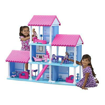 Barbie Size Dollhouse Furniture Girls Playhouse Dream Play Plastic Doll House
