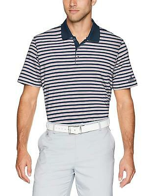 adidas 1247 Mens Ultimate 3 Stripe Polo Athletic Golf Casual T-Shirt Tee