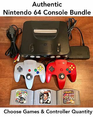 N64 Nintendo 64 Console with Authentic Controller - Mario Kart 007 Super Smash