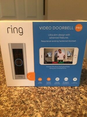 RING Video Doorbell PRO WiFi 1080P HD Motion Detection 2-Way Audio -4 Faceplates