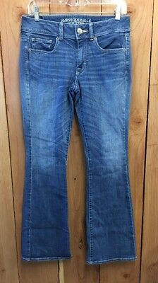 AE AMERICAN EAGLE OUTFITTERS KICK BOOT SUPER STRETCH JEANS SIZE 6