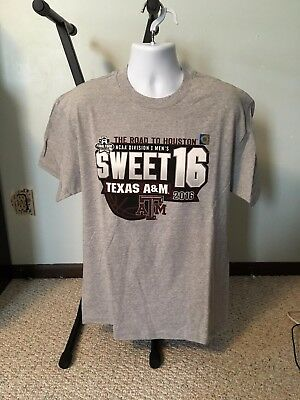Texas A-M Aggies March Madness and Sweet 16 T Shirt Mens Sizes
