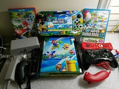 NINTENDO Wii U DELUXE 32GB BUNDLE 2 GAMES LOTS OF EXTRAS FREE SHIPPING-