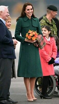 Hobbs Black Persephone Coat 12 as worn by Kate Middleton in green  exc con