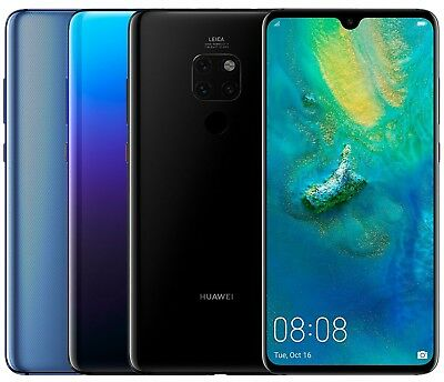 Huawei Mate 20 HMA-L29 128GB FACTORY UNLOCKED 6-53 Blue Twilight Black