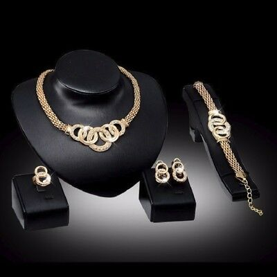 Mothers Day Gift SET Necklace Earring Bracelet and Ring Gold GIFT FOR MOM