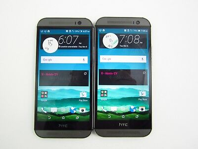 Lot of 2 HTC One M8 OP6B130 T-Mobile Check IMEI Good Condition 3-1771