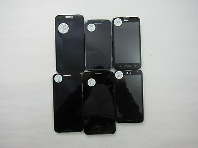 Lot of 6 Assorted Unknown Carrier Check IMEI Fair Condition 5-705