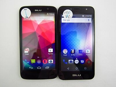 Lot of 2 Assorted Blu Unknown Carrier Check IMEI Fair Condition 3-1132