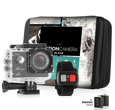 Action camera 4K Sports Ultra HD DV 16MP 1080p 60fps - Accessory Bundle