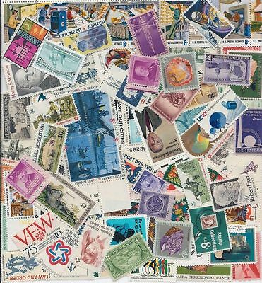 100 Different MNH Unused Vintage US Postage Stamps Lot 30s to 70s Plate Blocks