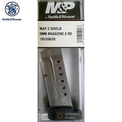 Smith - Wesson M-P SHIELD MAGAZINE 9mm 8 Rounds 19936 S-W FAST SHIP