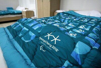 PyeongChang 2018 - Official Paralympic BLANKET DUVET for Athletes GREEN - GIFT