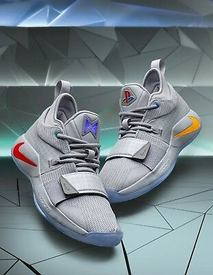 PlayStation x Nike PG 2-5 BQ8388-001 Wolf Grey Multi-Color Mens and GS Sizes
