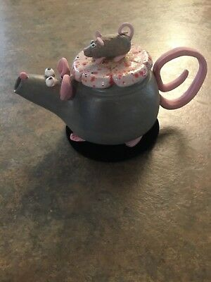 Cute Hand Thrown Pottery Whimsical Opposum Teapot Signed