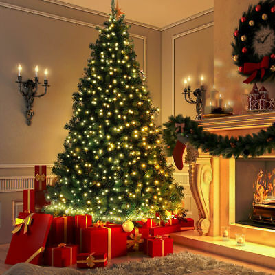 6FT Green Pines Artificial Christmas Tree Hanged With 100 LED Lights US Stock