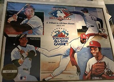 1991 Baseball All Star Game Heroes Promo Sheet
