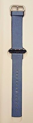 Genuine Apple Watch Woven Nylon Band 38mm NavyTahoe Blue - Fast Shipping