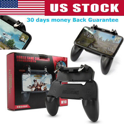 W10 Mobile Phone Game Controller Gamepad Joystick Fire Trigger For PUBG-Fortnite