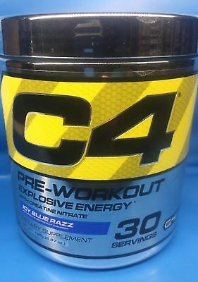 Cellucor C4 Explosive Energy G4 Pre-Workout Icy Blue Razz  30 Serv Clumpy 0219