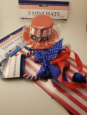 4th Of July Decoration Set New With Labels