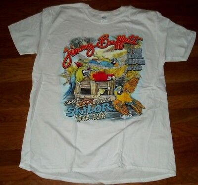 NEWNO TAGS JIMMY BUFFETT  DOUBLE-SIDED 2018 CONCERT TOUR T-Shirt size  XL SALE