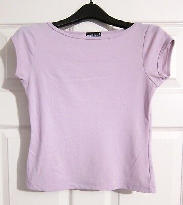 Wet Seal Lilac Purple Blouse Top with Cap Sleeves- Juniors Womens Size M